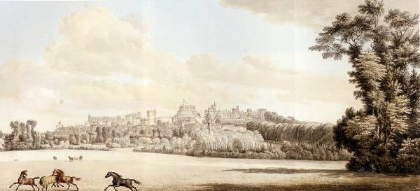View Of Windsor Castle And Part Of The Town From The Spital Hill